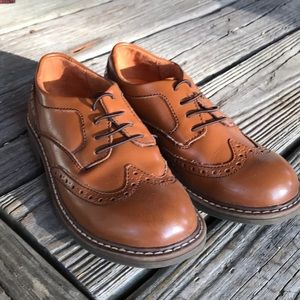 Wingtip Light Brown Boys Dress Shoes